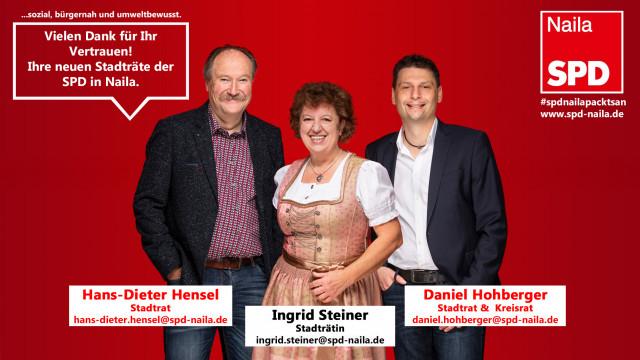 Die neuen SPD-Stadträte in Naila
